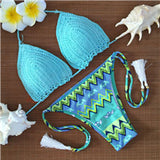Vintage Knitting Triangle Swimwear