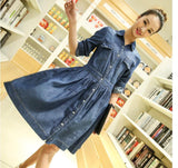 Women's Plus Size Three Quarter Sleeve Slim Denim Dress