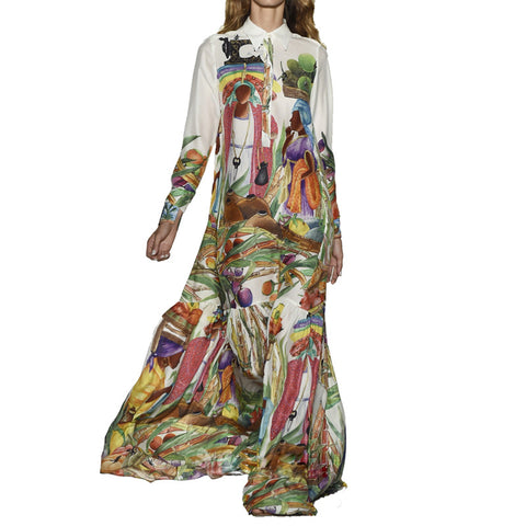 Art Printed Long Dress