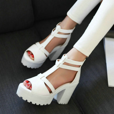 Ankle Wrap Platform Sandals