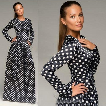 Vintage Polka Dot Dress with Belt