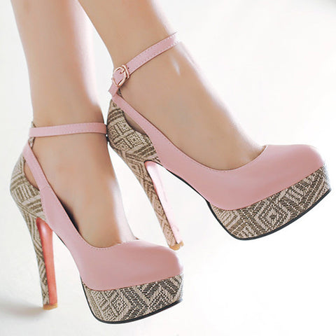 Ankle Strap Ultra High Heels