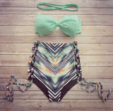 Vintage High Waisted Swimwear