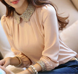 Decorated Collar Pastel Blouse