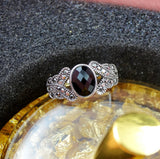 Black Resin Stone Ring