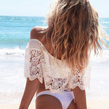 Off Shoulder Lace Cover Up