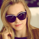 Women's Vintage Cat's Eye Retro Big Frame Sunglasses