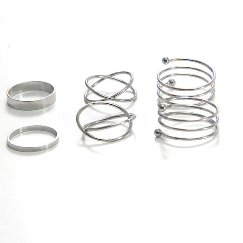 6 pcs/set Midi Rings