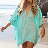 Women Tunic Lace Beach Cover up