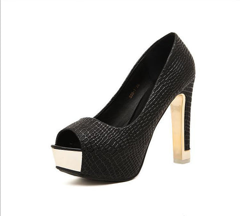All-match Peep Toe Pumps