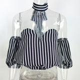 Trendy Off Shoulder Bow Sexy Top