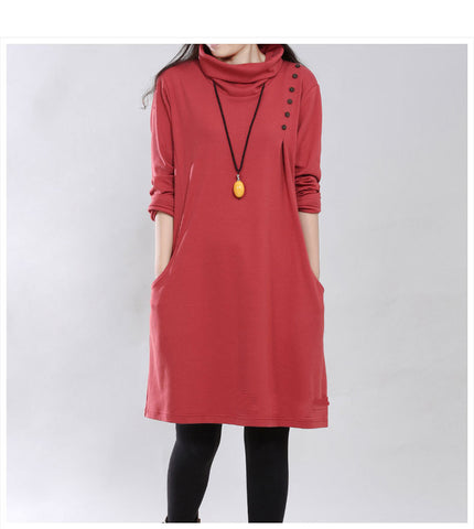 Women's Quality Turtleneck Dress