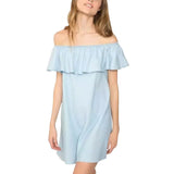Off Shoulder Ruffles Dress