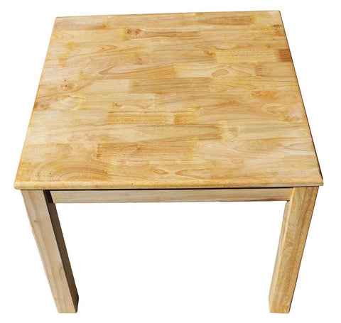 Qtoys Rubber Wood Square Table