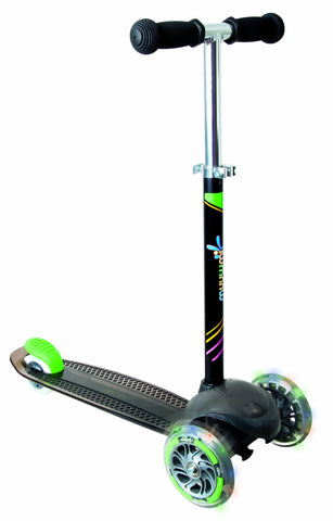 Muuwmi Neon Up Scooter - Black/Green