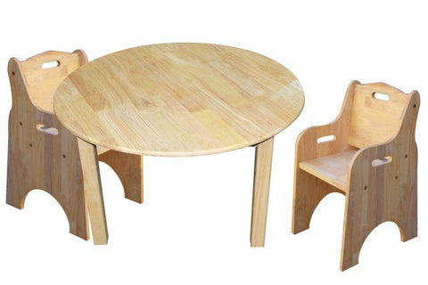 Qtoys Medium Round Table & 2 Toddler Chairs