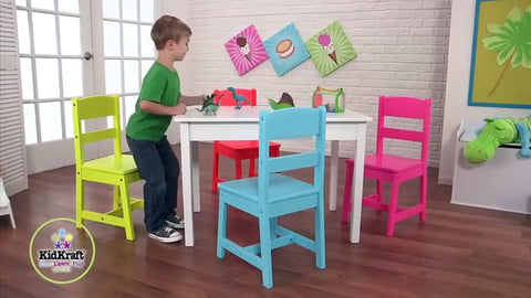 KidKraft Highlighter Table & 4-Chair Set – Swing and Play