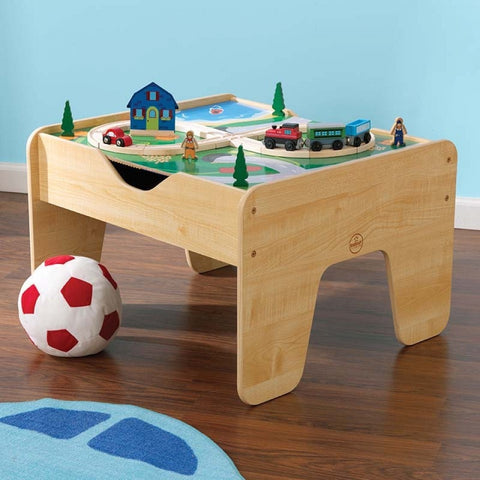 KidKraft 2-In-1 Activity Table With Board - Natural