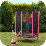 Plum 4.5ft Junior Trampoline & Enclosure - Pink - Swing and Play - 3