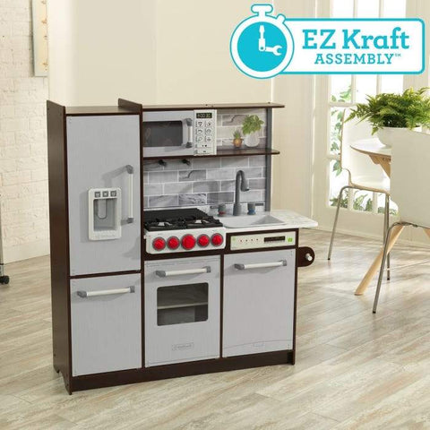 Kidkraft Ultimate Elite Espresso Play Kitchen EZ Assembly
