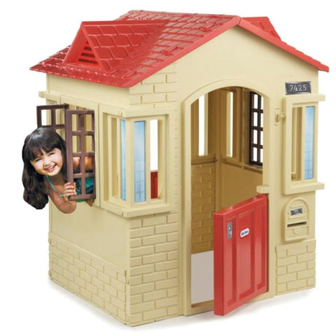 Little Tikes Cape Cottage - Tan - Swing and Play - 1