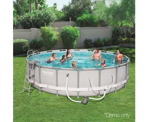 Bestway Round Frame Power Steel Swimming Pool - 5.49m