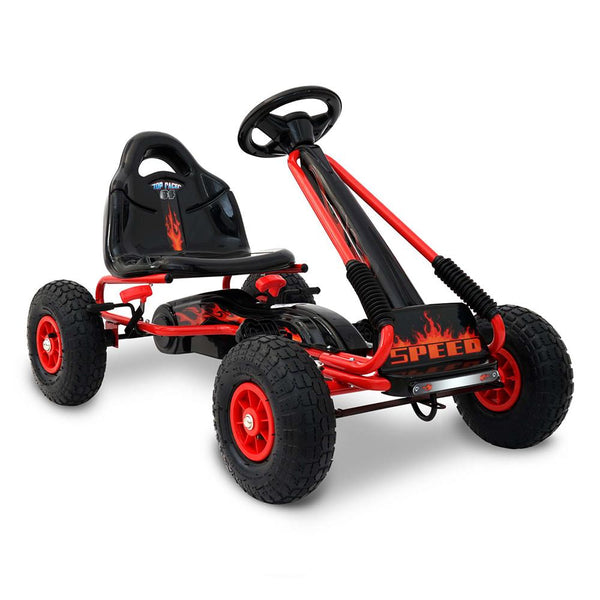 Shock Absorbing Pedal Powered Go Kart - Red