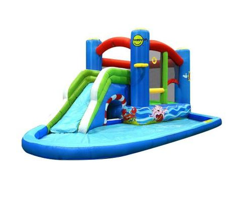 Happy Hop Inflatable Water Jumping Castle Bouncer Pool