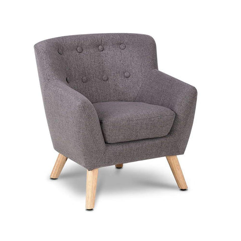 Fabric Accent Arm Chair - Grey