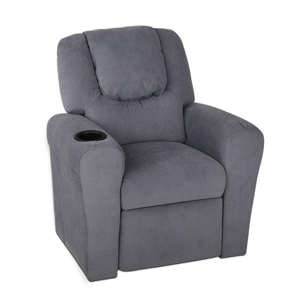 Lazy Boy Linen Fabric Reclining Arm Chair - Grey