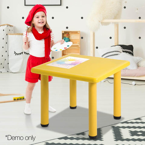 Adjustable Table - Yellow