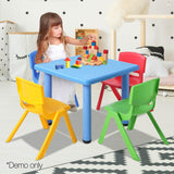 5 Piece Study Table and Chair Set - Blue