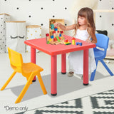 3 Piece Study Table and Chair Set - Red