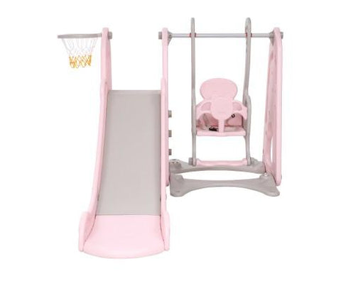 Toddler Swing and Slide play centre - Pink