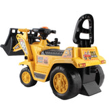 Loader Digger Bulldozer Pretend Play Ride On - Yellow