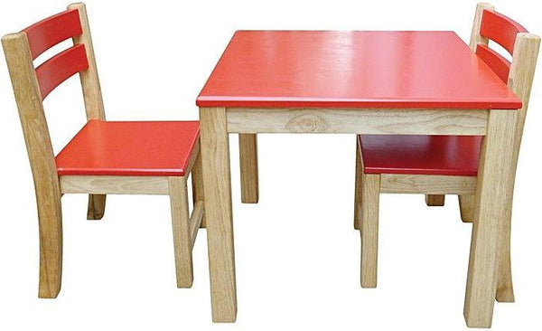 Qtoys Red Top Timber Table & Chairs