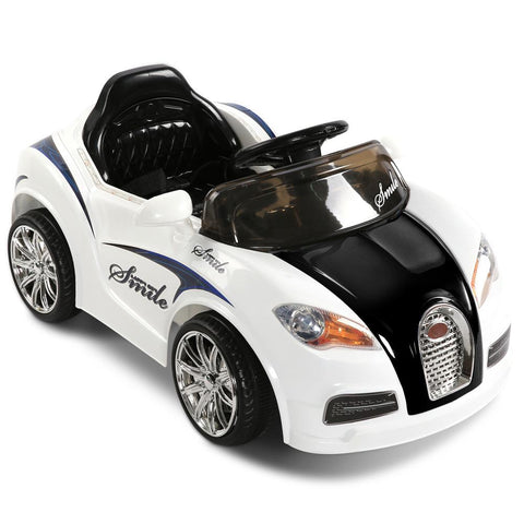 Bugatti Style Electric Ride on Car - Black & White