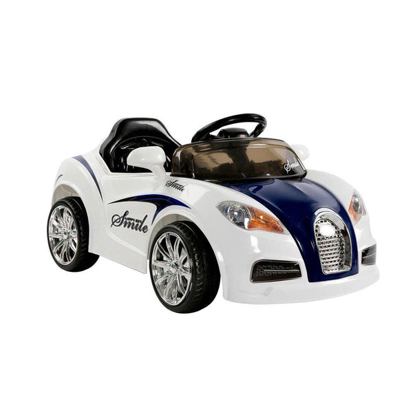 Bugatti Style Sports Ride on Car - Blue & White