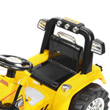Bulldozer Loader Digger Electric Ride On - Yellow