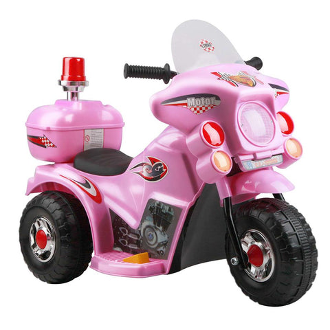 Police Patrol Ride on Motorbike - Pink