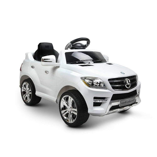 Mercedes Benz ML350 Licensed Electric Ride on Car - White