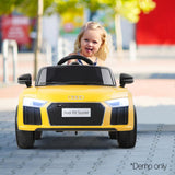 Audi R8 Licensed Electric Ride on Car - Yellow