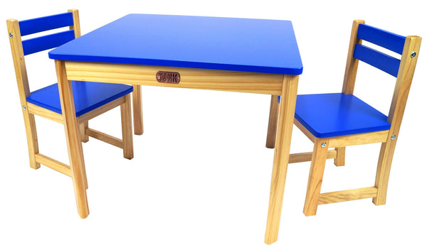 TikkTokk Little Boss Table & Chairs Set - Square Blue