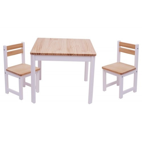TikkTokk Envy Table & Chairs Set - White