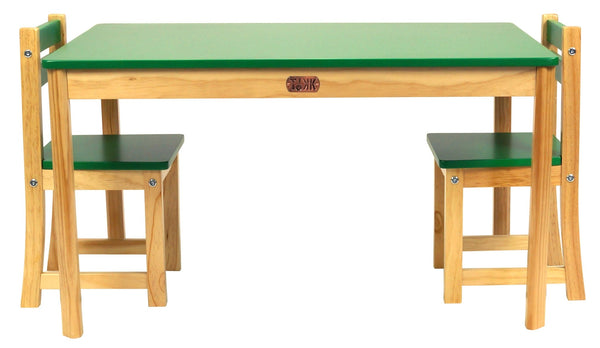 TikkTokk Little Boss Table & Chairs Set - Rectangular Green