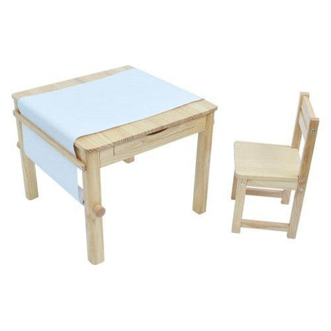 TikkTokk Little Boss Art Table & Chair Set - Natural