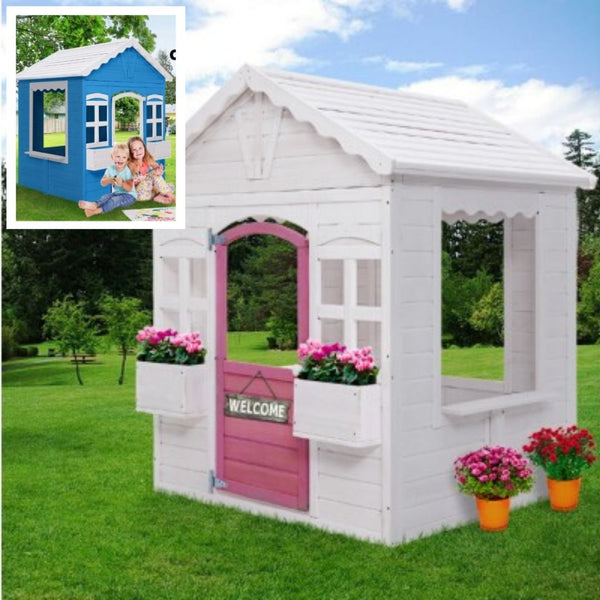 Wooden Cottage Cubby House with Floor