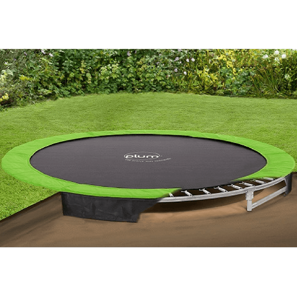 plum 10ft in ground trampoline 27558 swing and play. Black Bedroom Furniture Sets. Home Design Ideas