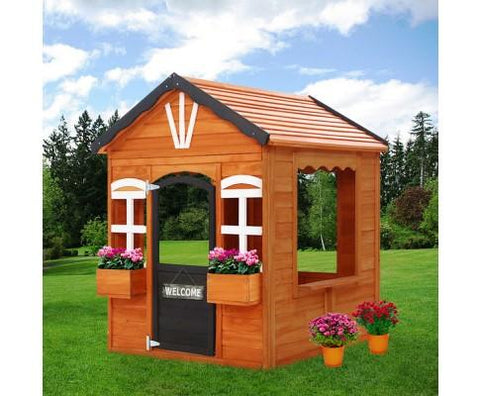 Flower Box Wooden Cubby Play House
