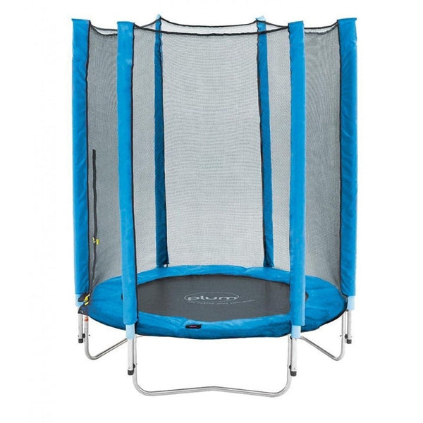 Plum 4.5ft Junior Trampoline & Enclosure - Blue - Swing and Play - 1